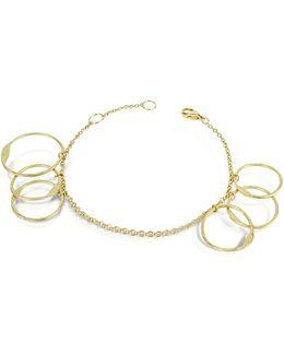 Milly - 18k Yellow Gold Circles Chain Bracelet