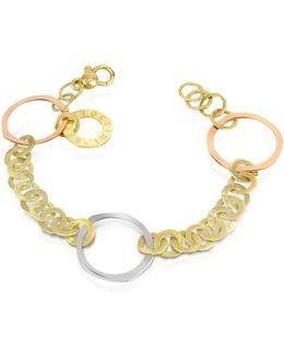 Fiesole - Three-tone 18k Gold Circles Chain Bracelet