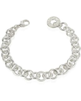Coin 1369 - Sterling Silver Rolo Chain Charm Bracelet