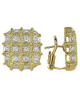 Wallstreet - 18k Yellow Gold Diamond Earrings