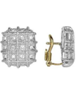 Wallstreet Collection - 18k White Gold Diamond Earrings