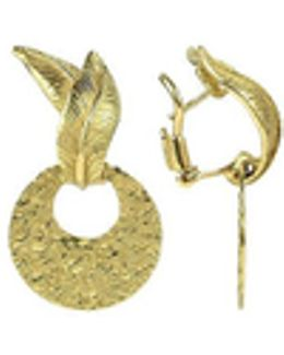 Victoria - 18k Yellow Gold Chiselled Earrings