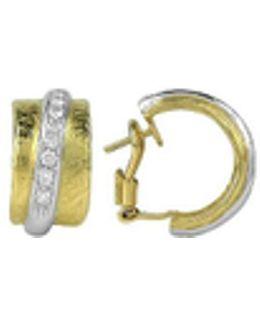 Nancy - 18k Yellow Gold And Diamond Earrings