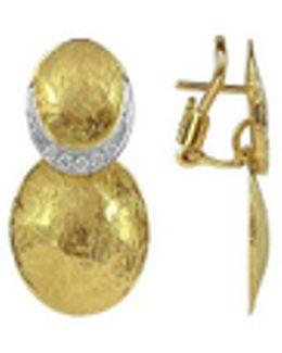 Lenticchie - 18k Gold And Diamond Earrings
