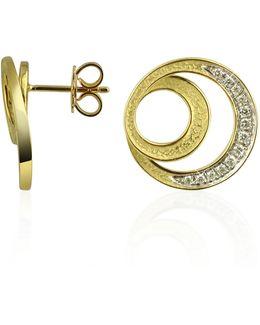 Infinity 18k Yellow Gold Diamond Earrings