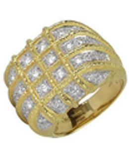 Wallstreet - 18k Yellow Gold Diamond Ring