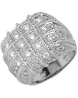 Wallstreet - 18k White Gold Diamond Ring