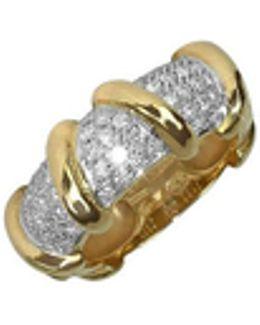 Twister - 18k Yellow Gold Diamond Ring