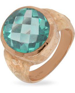 Stefy - Green Amethyst Oval Gemstone 18k Rose Gold Ring