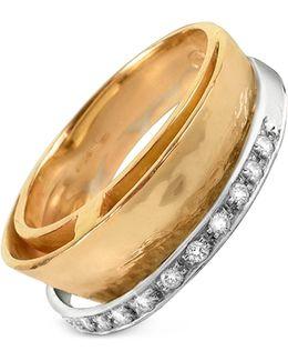 Tama - Diamond Channel 18k Yellow Gold Band Ring