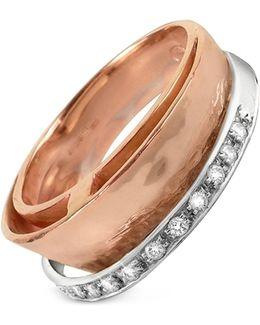 Tama - Diamond Channel 18k Rose Gold Band Ring