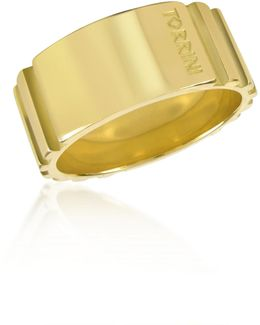 Stripes - 18k Yellow Gold Tall Band Ring