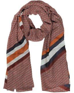 Gemini Link Striped Oblong Wool Scarf