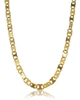 Core Gemini Gold Tone Metal Link Chain Necklace