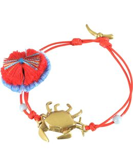 Crab Charm Thread Bracelet