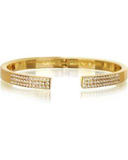 Diviso Gold Tone Crystal Bracelet