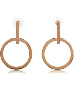Antonia Rose Gold Tone Hoop Earrings
