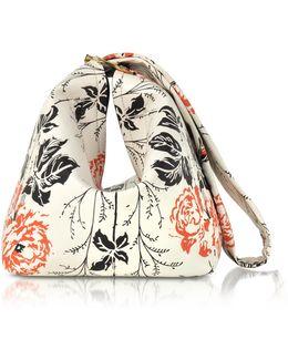 Flower Printed Leather Tissue Bag