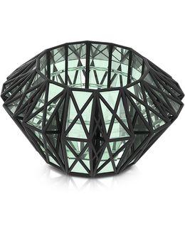 Translucent Glass Cage Cuff
