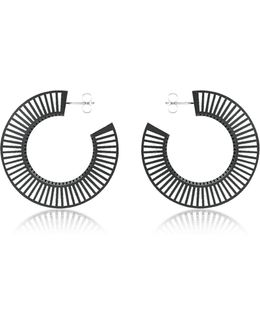 Phase Black Hoop Earrings