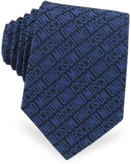 Signature Print Silk Jacquard Tie