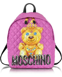 Teddy Bear Quilted Backpack