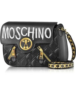 Signature Print Leather Crossbody Bag
