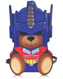 Transformers Blue Print Polyurethane Backpack