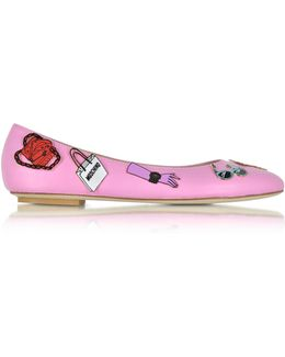 Women's Pink Leather Flats