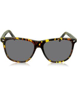 Ez0009 54a Yellow And Brown Acetate Men's Sunglasses