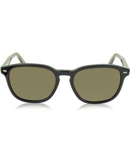 Ez0005 01m Black & Brown Polarized Acetate Men's Sunglasses