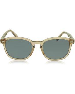 Ez0005 45n Transparent Acetate Men's Sunglasses