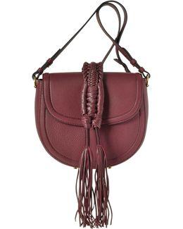Ghianda Knot Garnet Red Leather Saddle Bag
