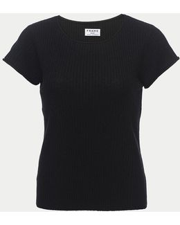 Fitted Rolled Ribbed Tee