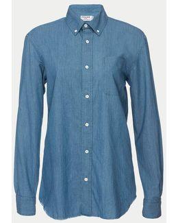 Raw Edge Button Down Shirt