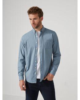 Garment-dyed Lightweight Oxford Shirt In Citadel