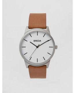 Breda Watch - Bresson In Silver/brown