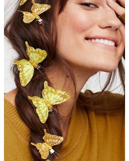 Butterfly Hair Clip - 7 Pack