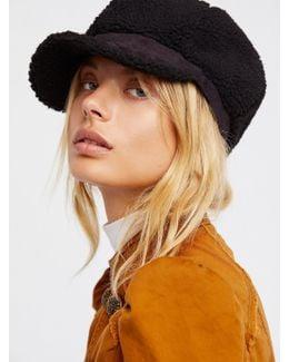 Eloise Faux Shearling Lieutenant Hat
