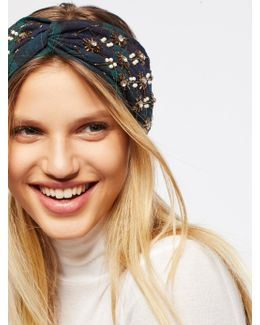 Embellished Plaid Turban
