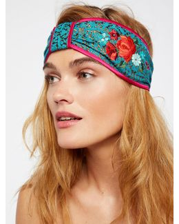 Embroidered Brocade Turban
