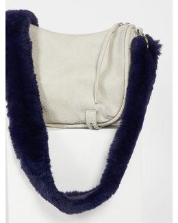 Faux Fur Long Bag Strap
