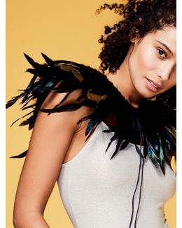 Fly Away With Me Feather Collar