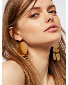 Hyun Geometric Plate Earrings