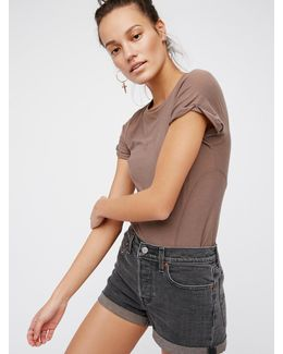 Levi's High Rise Wedgie Cutoffs