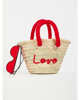 L'petit Poolside Straw Mini Tote
