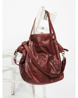 Lucca Washed Leather Tote