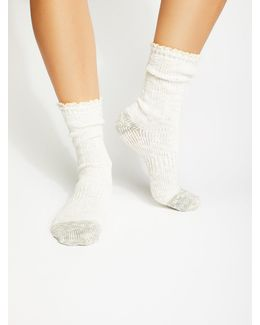 Melbourne Heathered Crew Socks