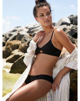 Mesh Basic Bikini Bottom Mesh Triangle Bikini Top
