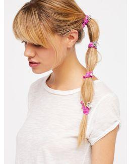 Metal Rosebud Hair Ties